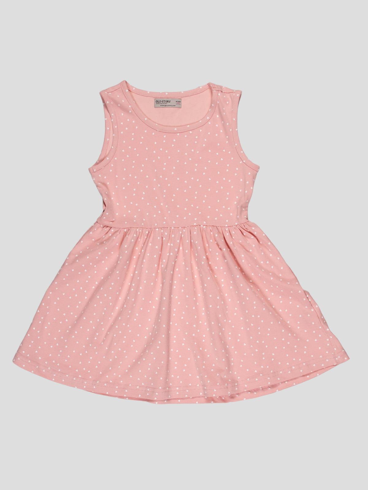 Сукня рожева в принт | 5057507