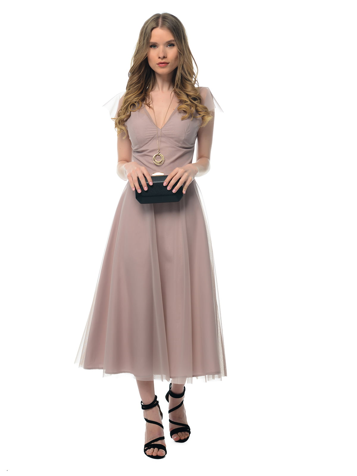 Платье серо-розовое | 5073696