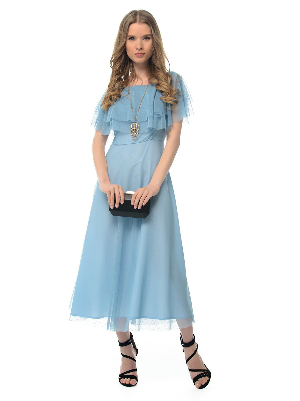 Платье голубое | 5073697