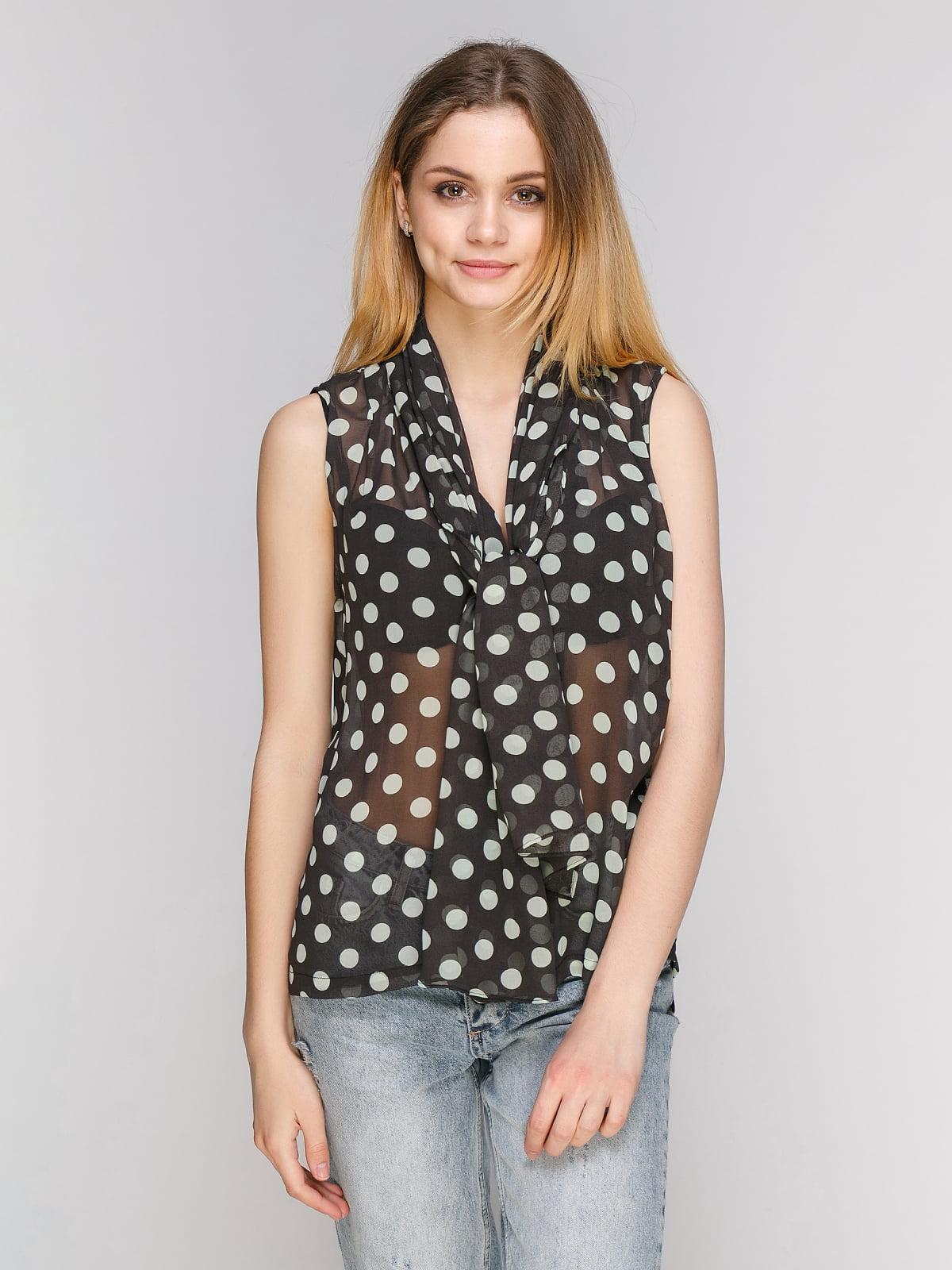 Блуза чорна в горошок   3856627
