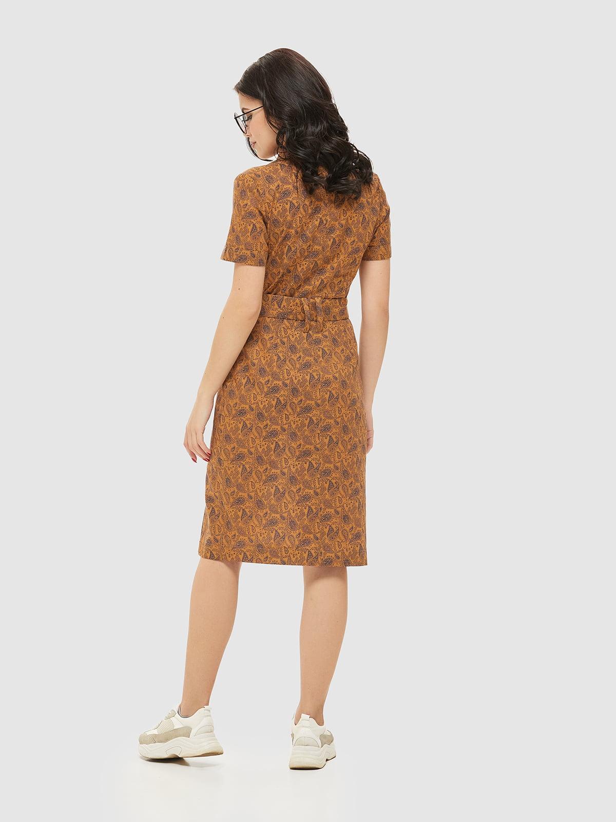 Сукня коричнева в принт   5075487   фото 2