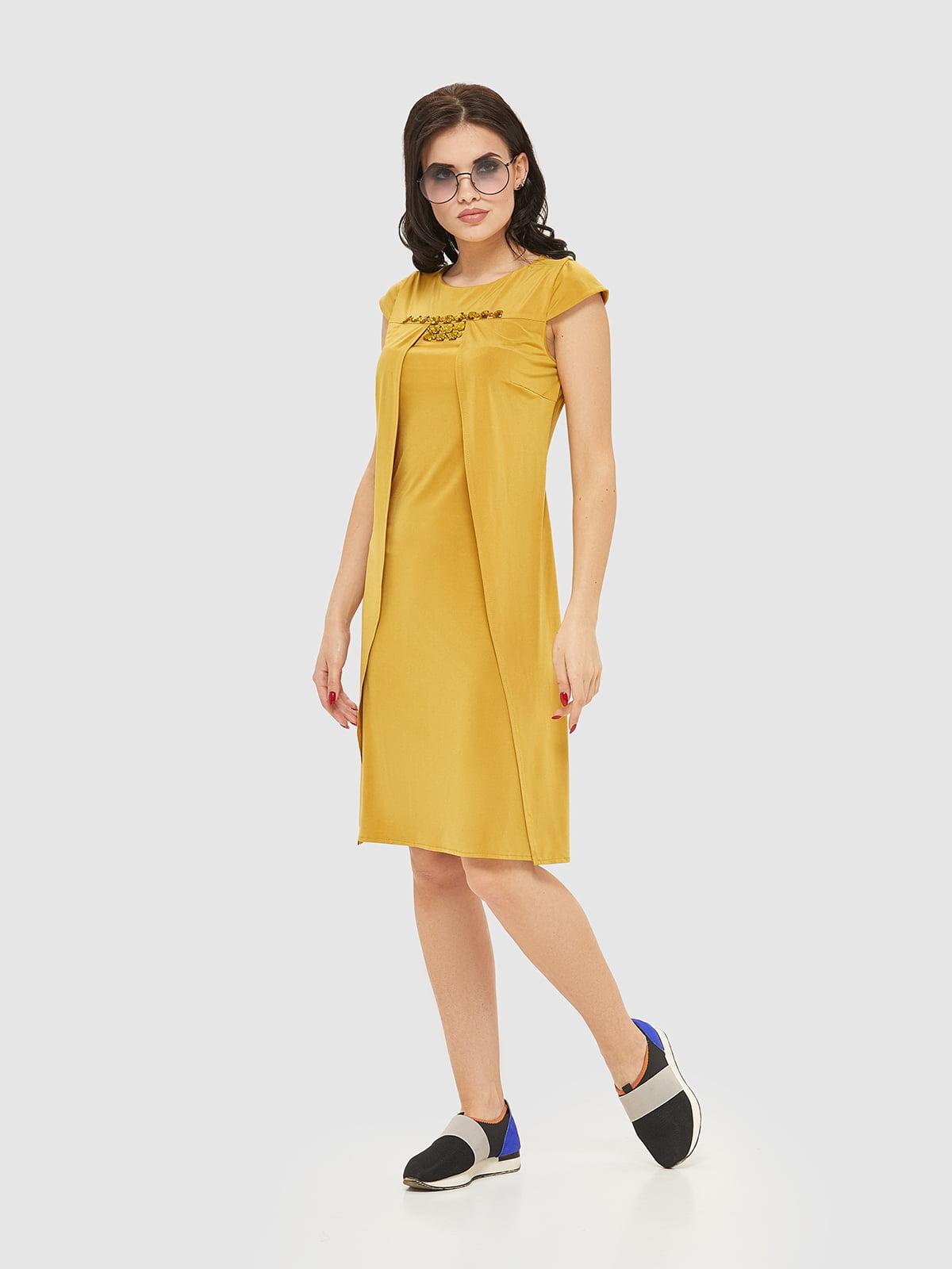 Сукня гірчичного кольору   2386060   фото 3