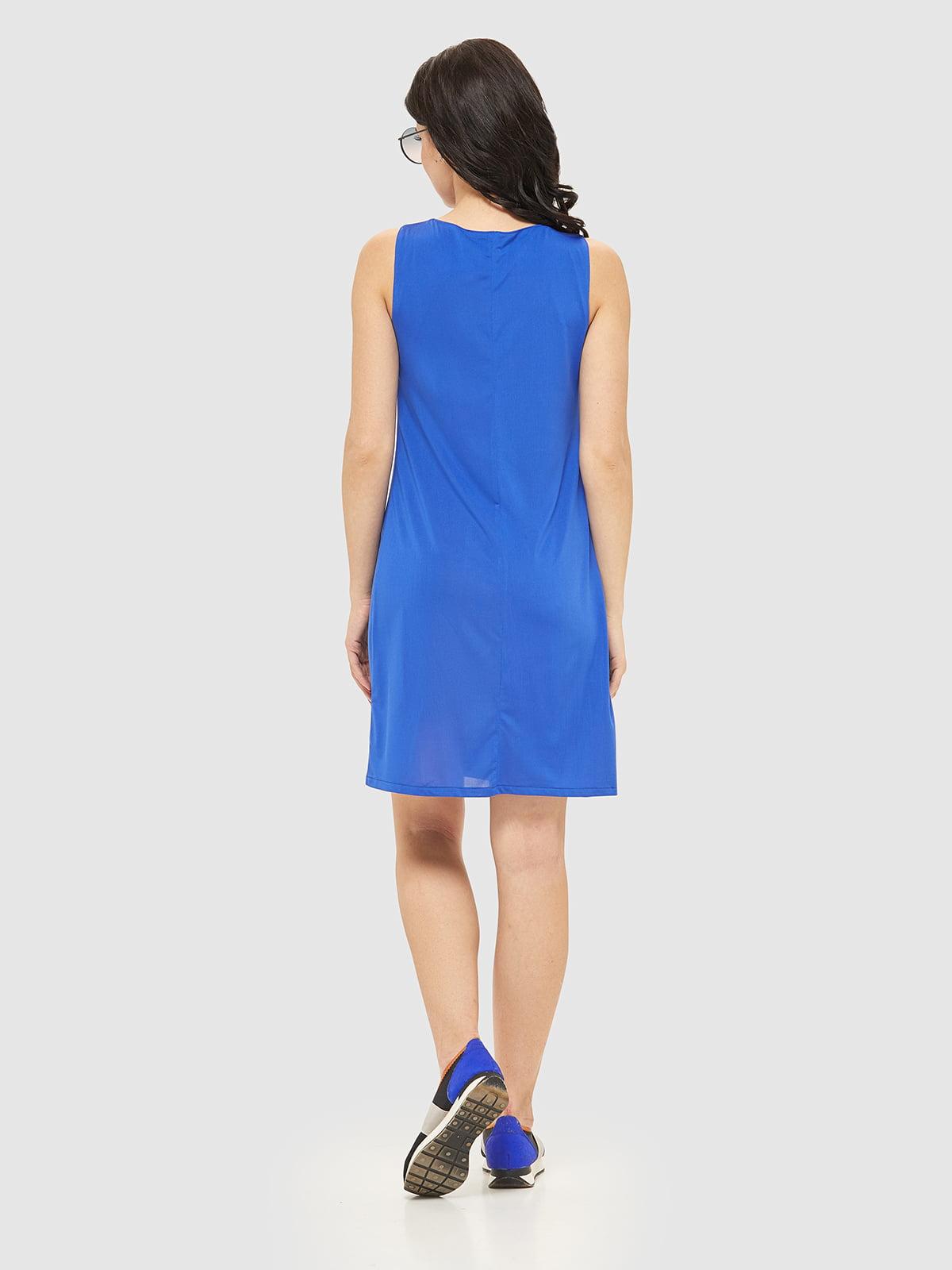 Сукня кольору електрик | 2444492 | фото 2