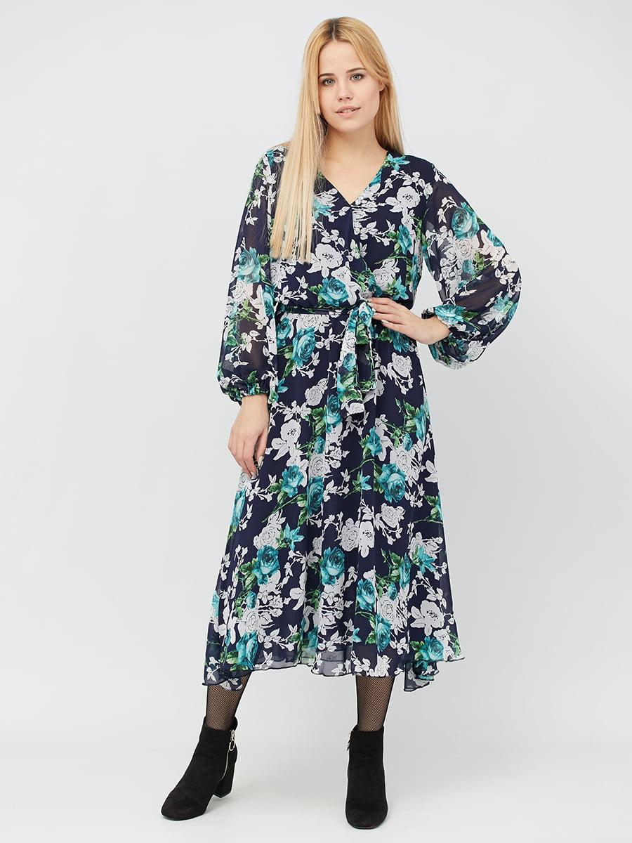 Платье в цветочный принт | 5076450