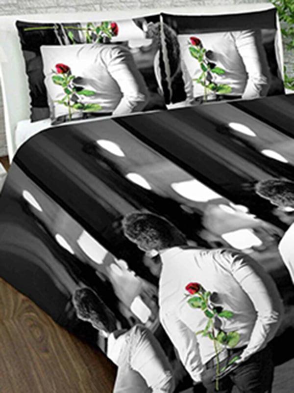 Комплект постільної білизни двоспальний (євро) | 4762642 | фото 6