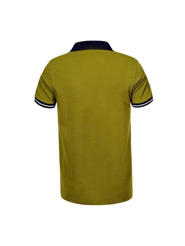 Футболка-поло оливкового кольору   5075365   фото 2