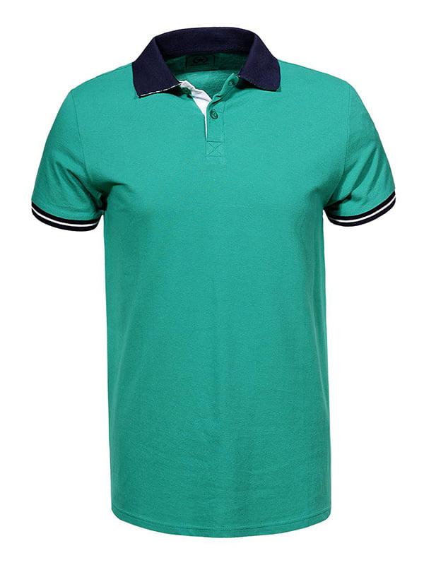 Футболка-поло зеленая | 5075366