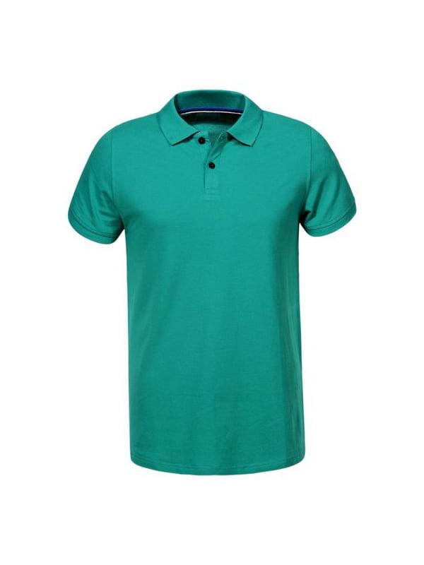 Футболка-поло зелена | 5075755