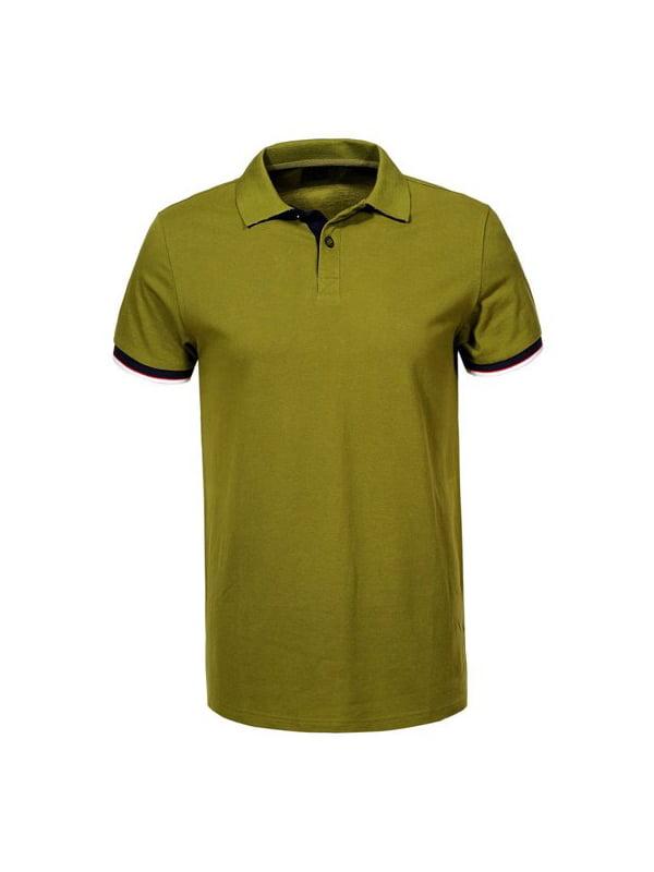 Футболка-поло оливкового кольору | 5076056