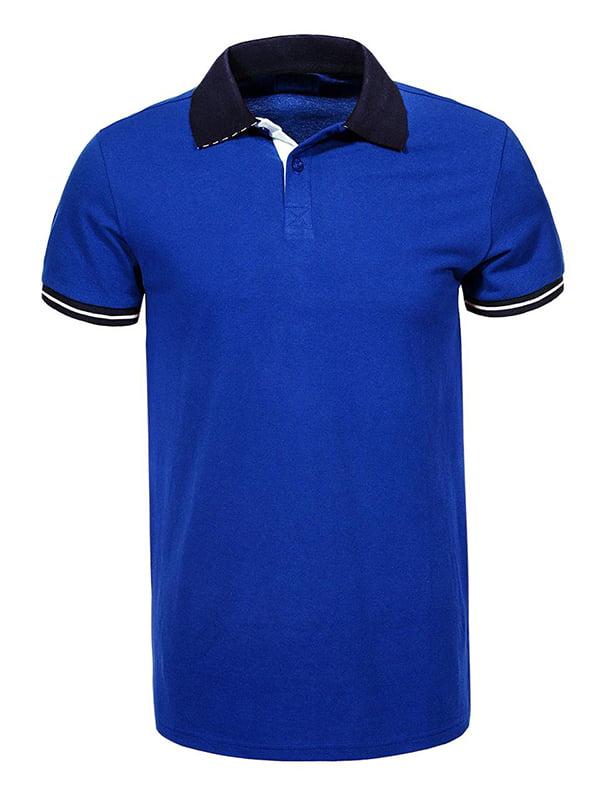 Футболка-поло синя | 5076406