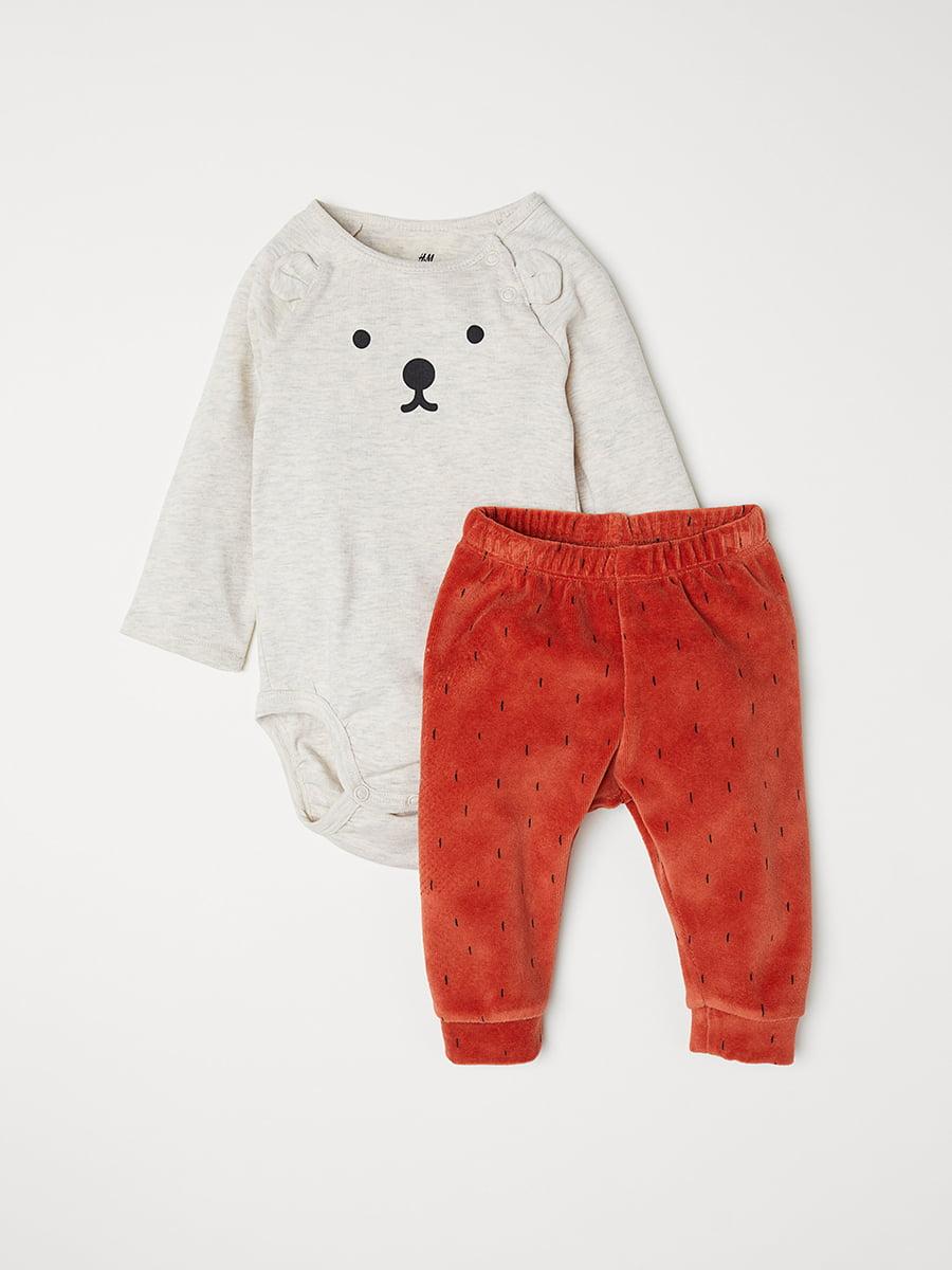Комплект: боди и брюки | 5072971