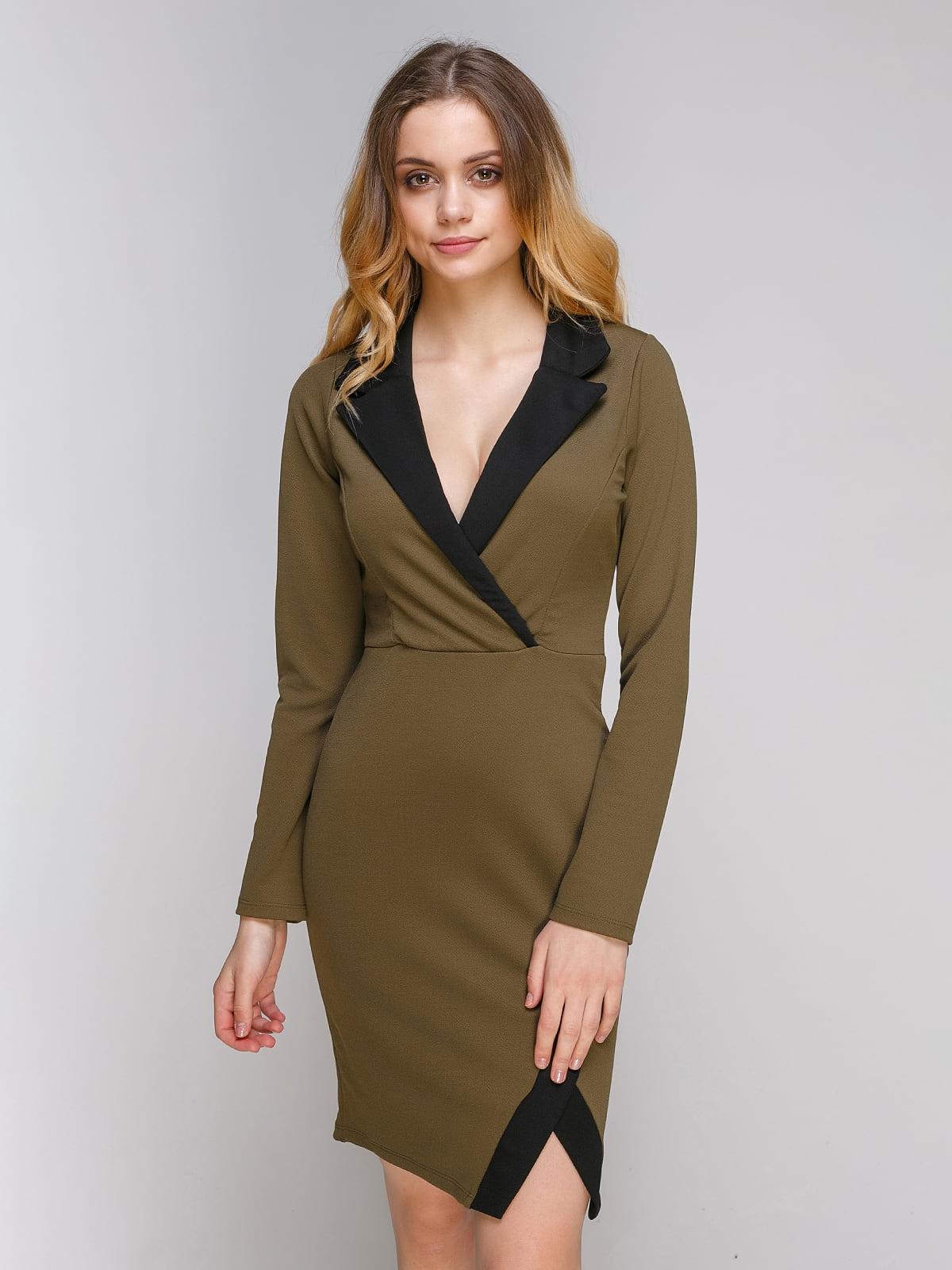 Сукня кольору хакі | 4351256