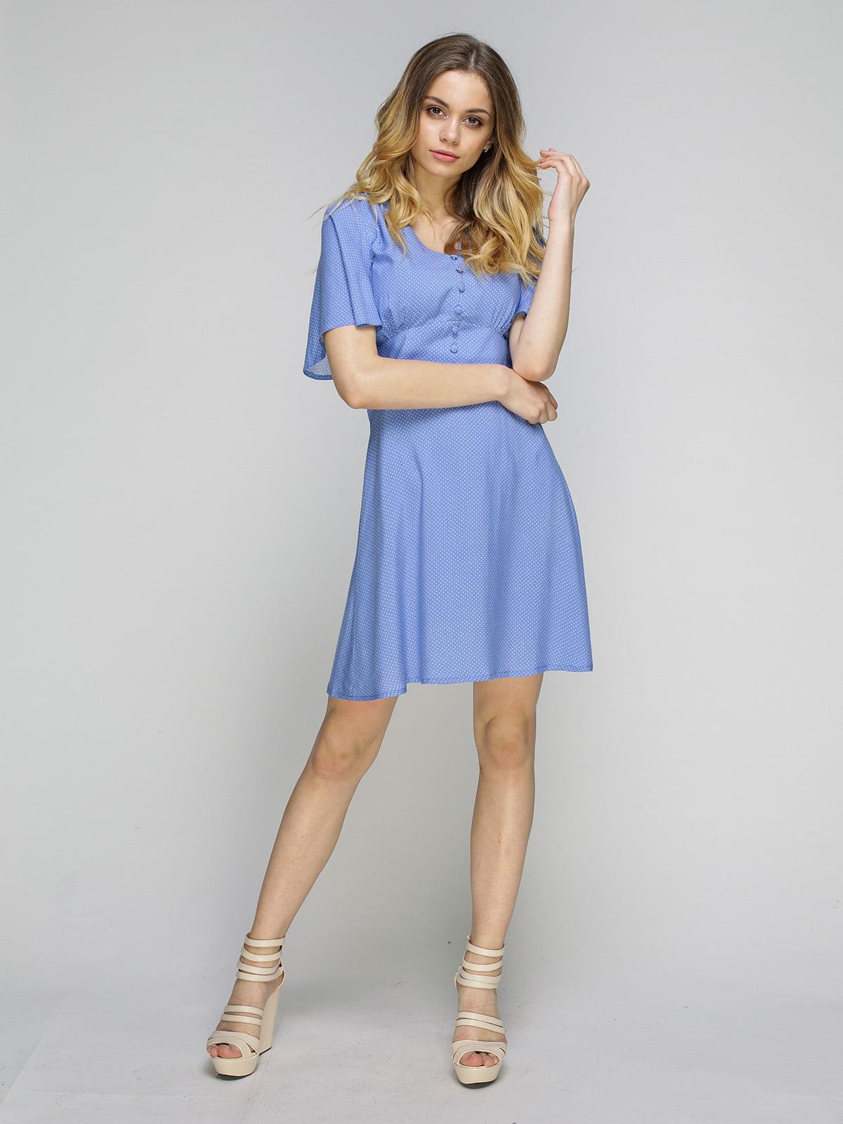 Сукня блакитна в горошок | 5080250