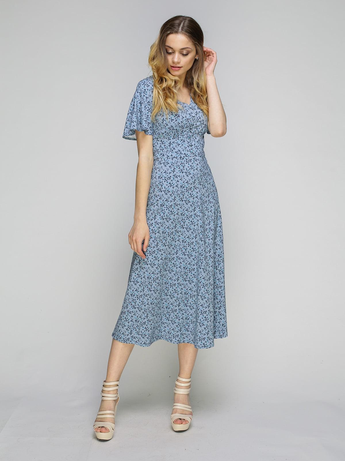 Сукня блакитна в квітковий принт   5080254