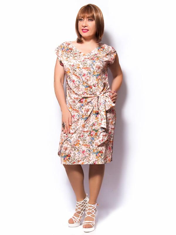 Платье розовое в цветочный принт   3384833   фото 2