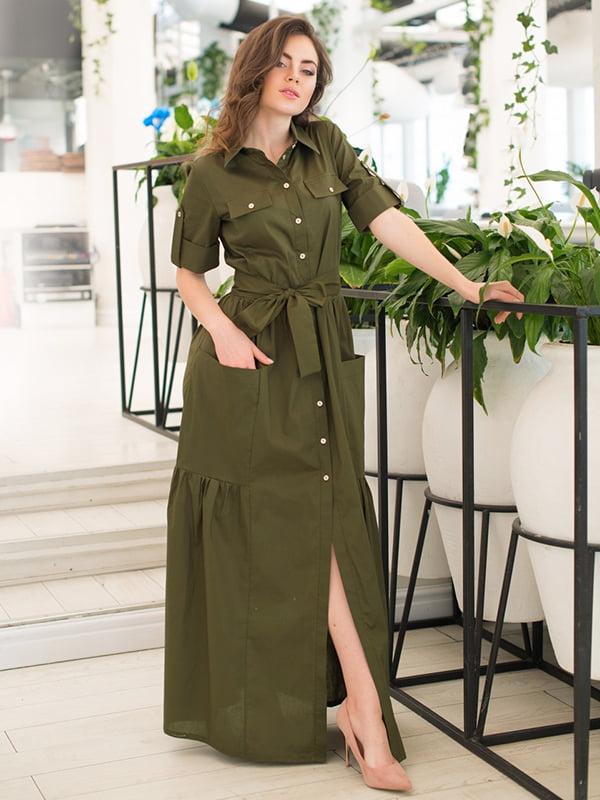 Платье цвета хаки | 5081851