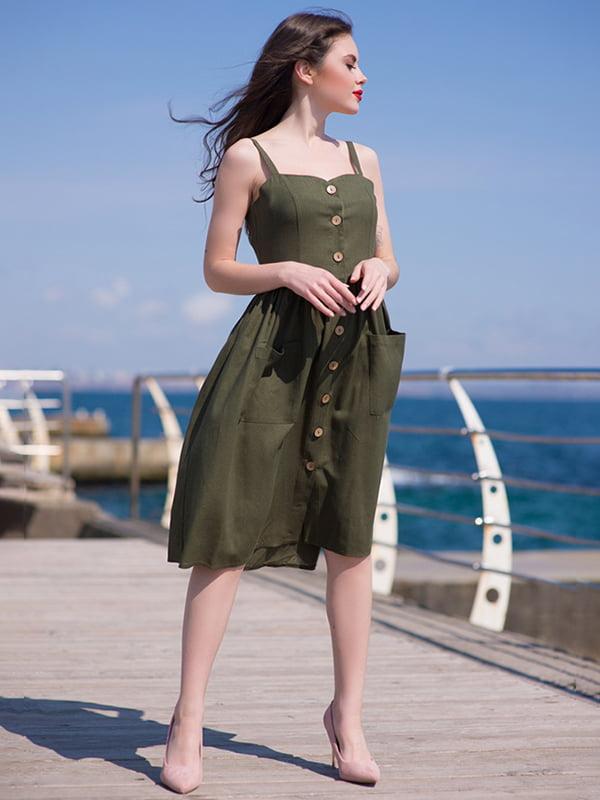 Сукня кольору хакі | 5081924