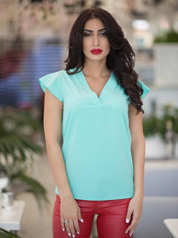 Блуза м'ятного кольору | 5081931