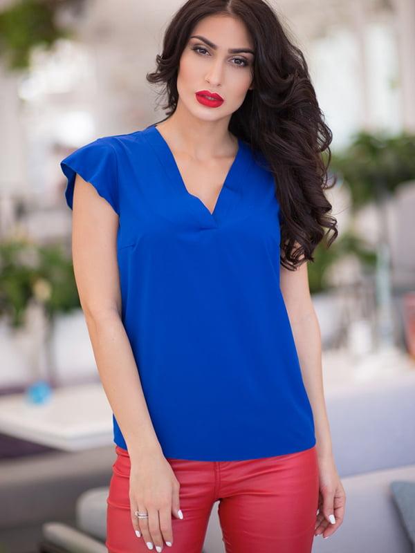 Блуза кольору електрик | 5081936
