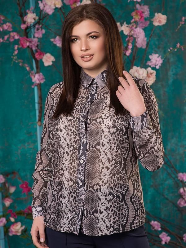 Рубашка анималистичной расцветки | 5081958