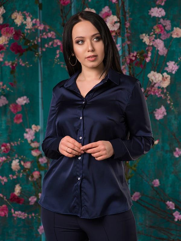 Рубашка темно-синяя | 5081961