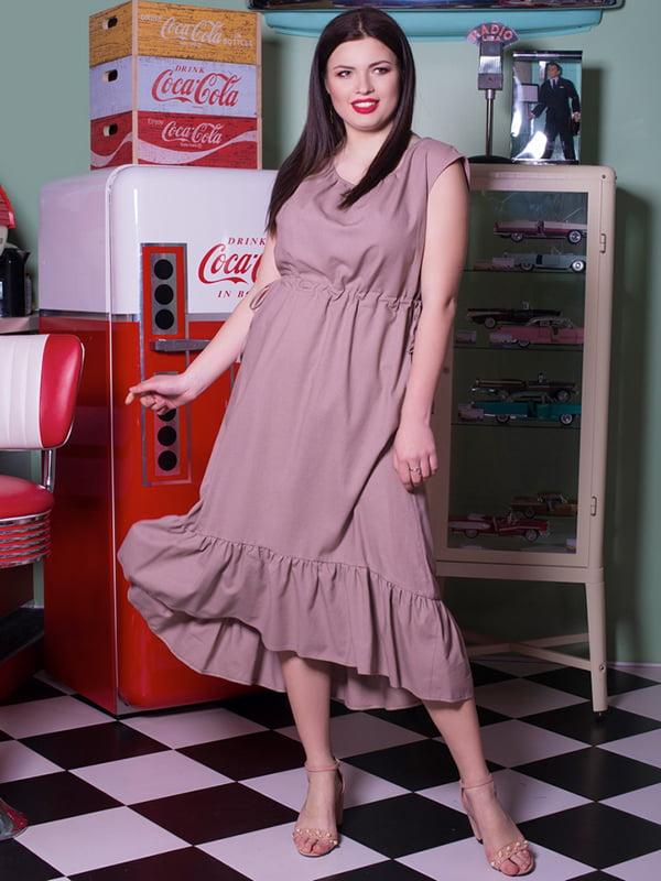 Платье бежевое | 5081969