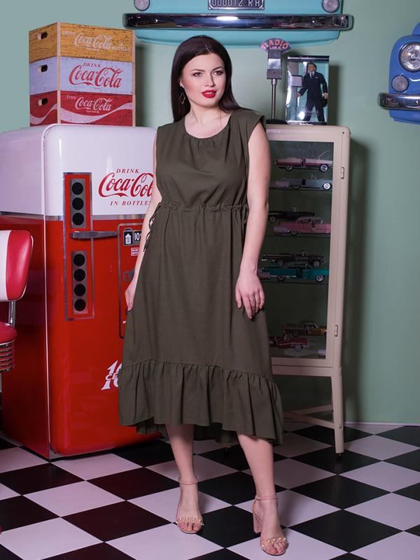 Сукня кольору хакі | 5081972