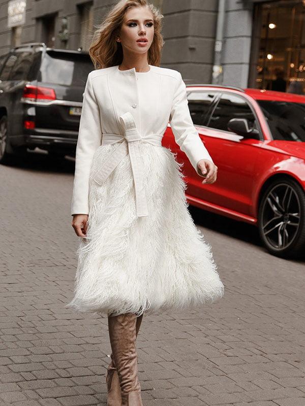 Пальто белое | 5086499
