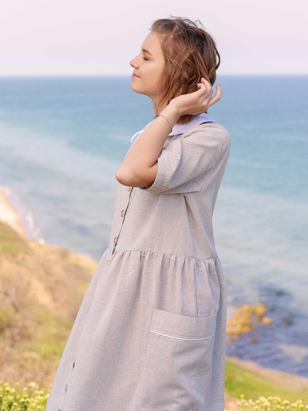 Сукня світло-сіра   5086769   фото 2