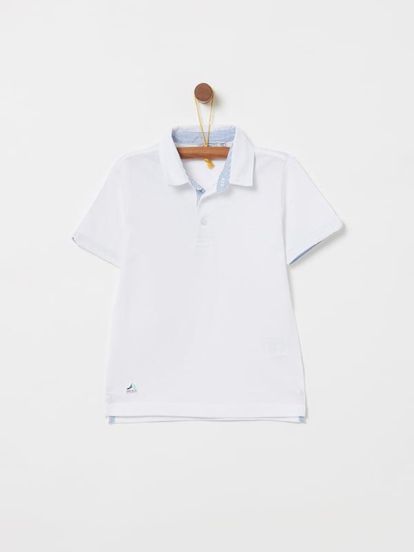 Футболка-поло біла | 5058843