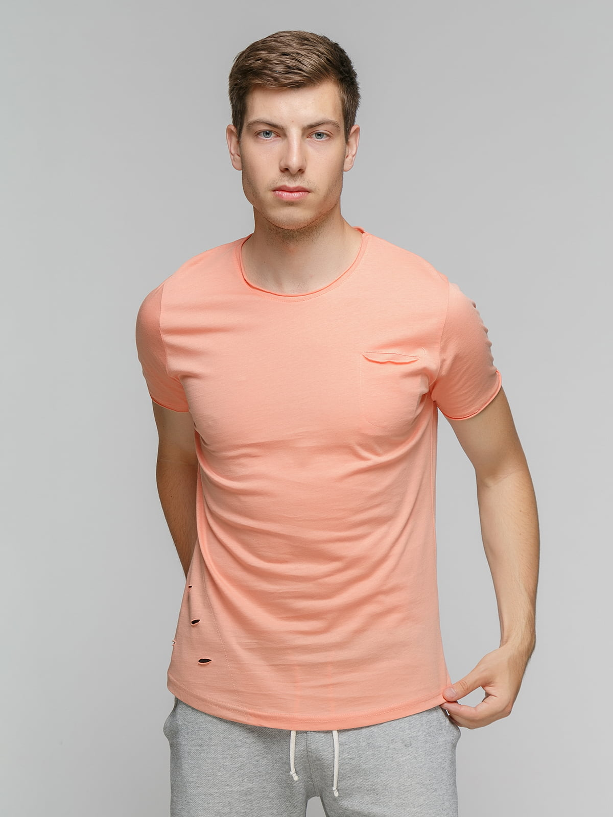 Футболка персикового кольору   5077340