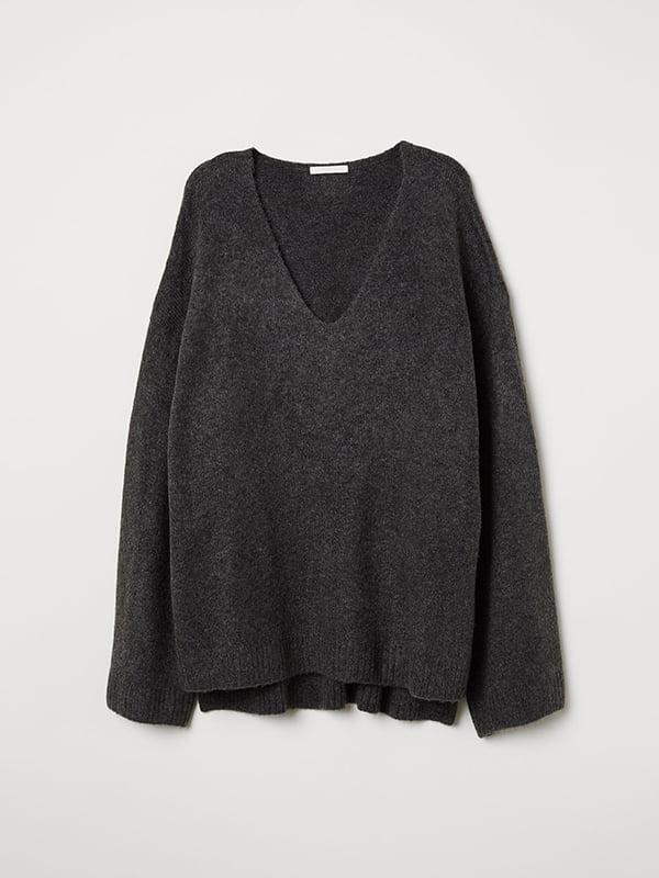 Пуловер серый | 5046540 | фото 3