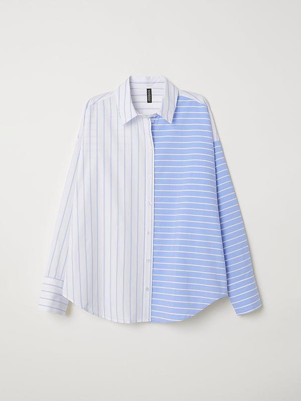 Рубашка в полоску   5046929   фото 2