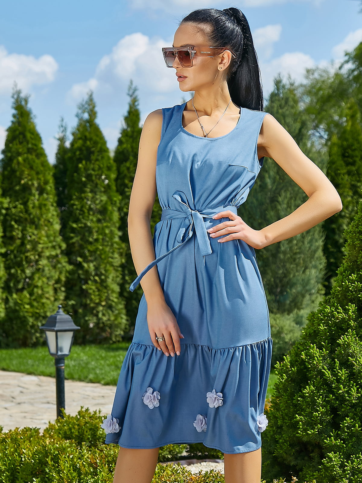 Платье голубое | 5091648