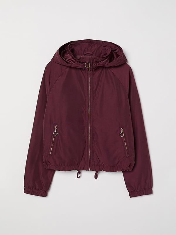 Куртка бордовая | 5073343