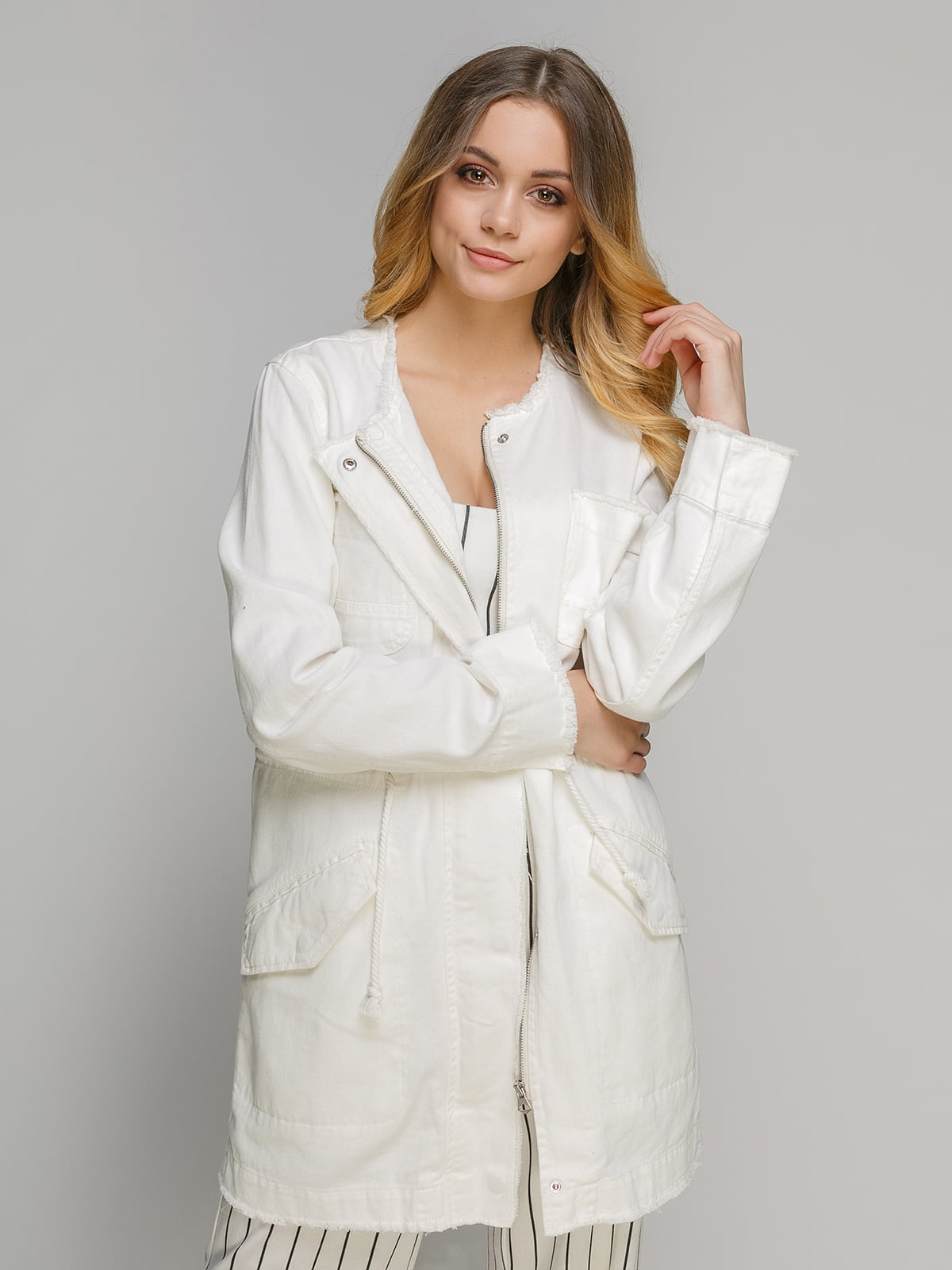 Куртка молочного цвета | 4646291