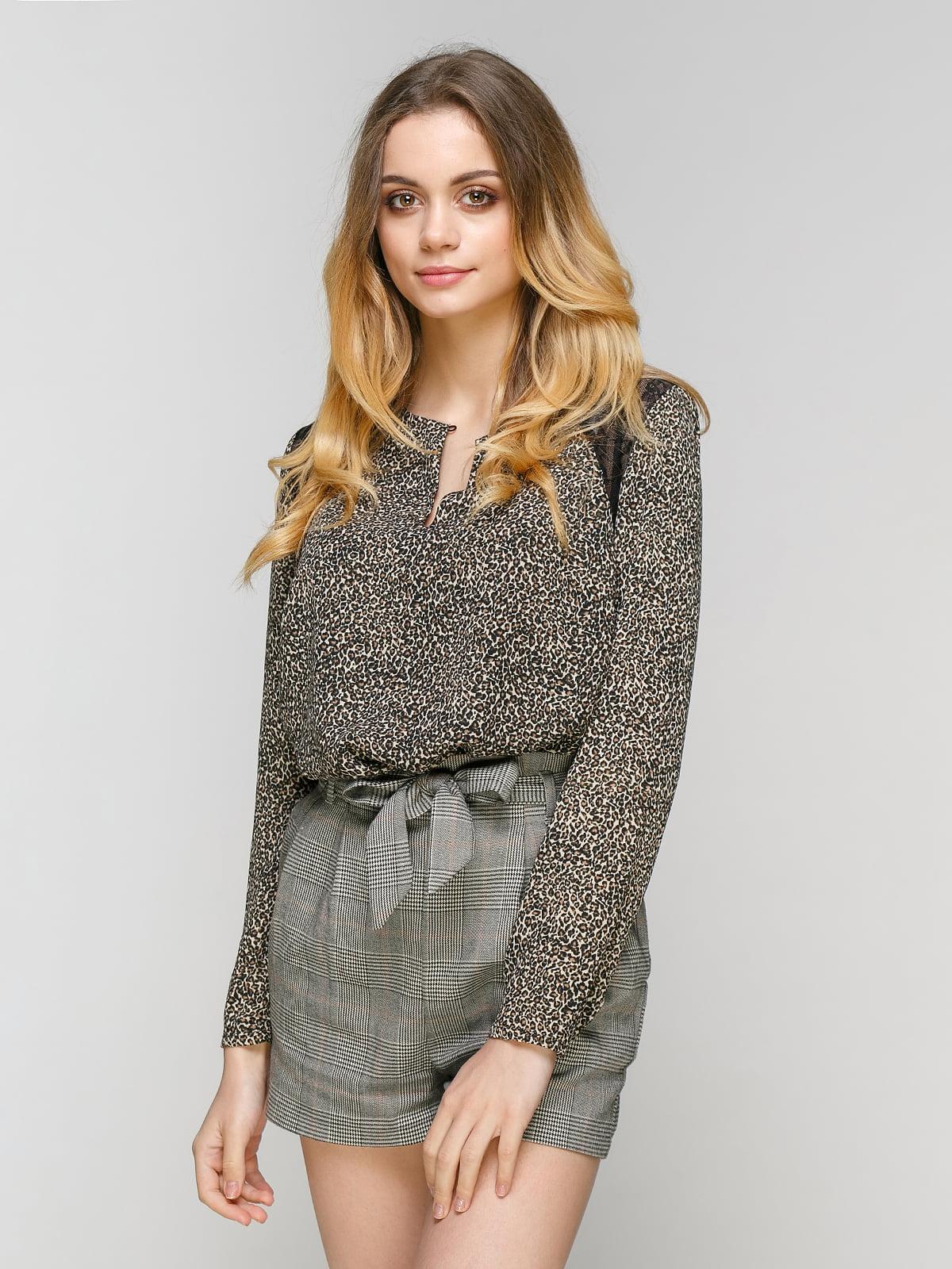 Блуза анималистической расцветки | 3229184