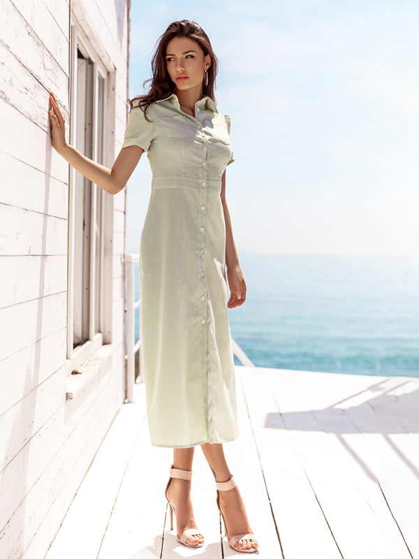 Платье белое в полоску | 5096268