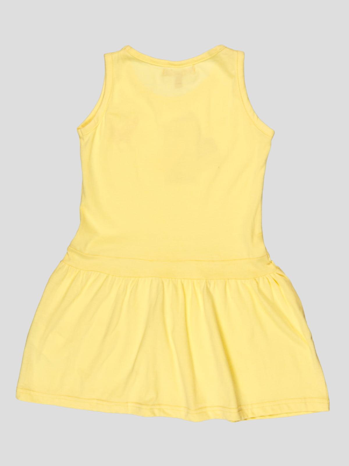 Сукня жовта з принтом | 5082223 | фото 2
