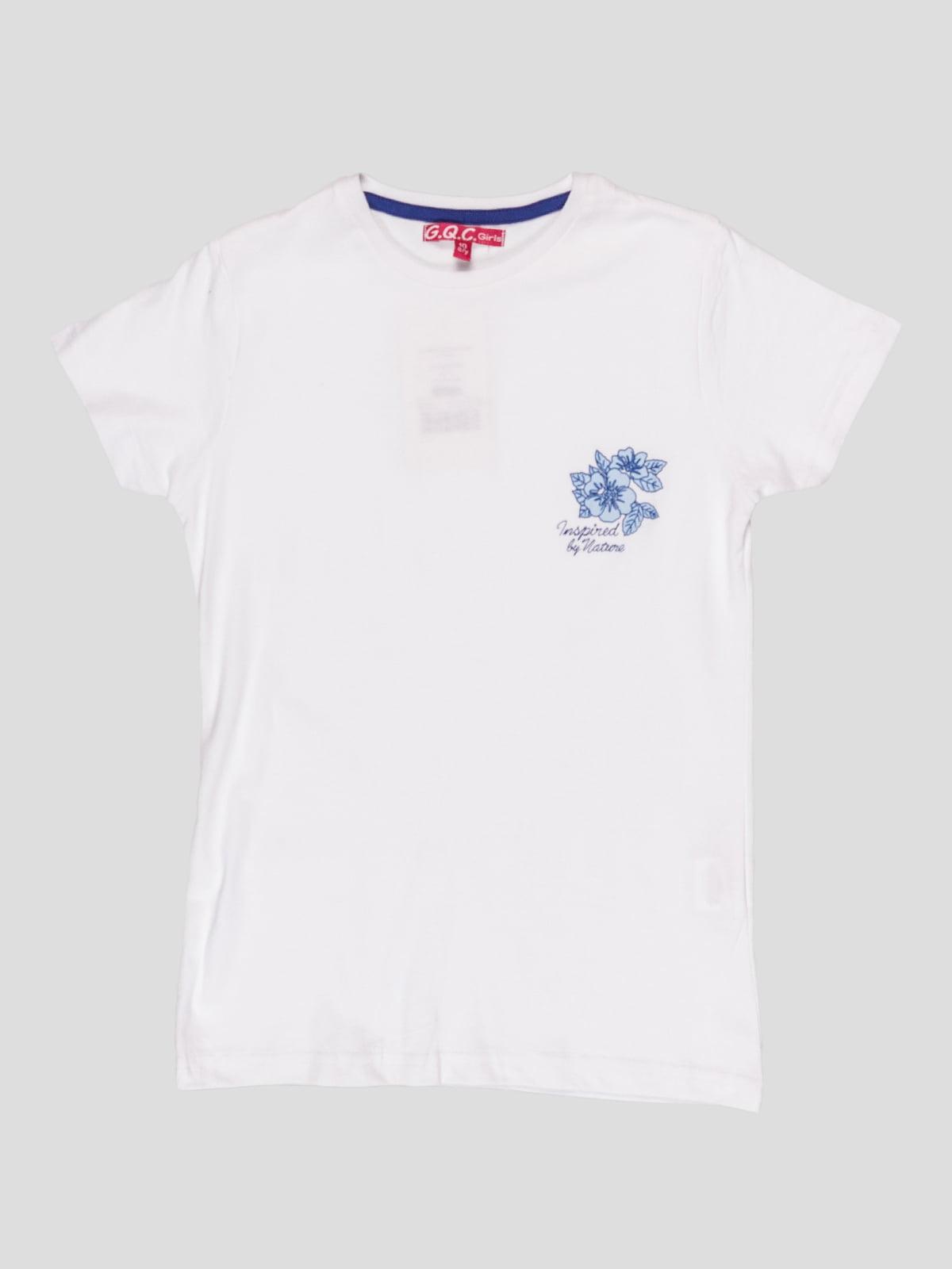 Футболка біла з принтом | 5082220