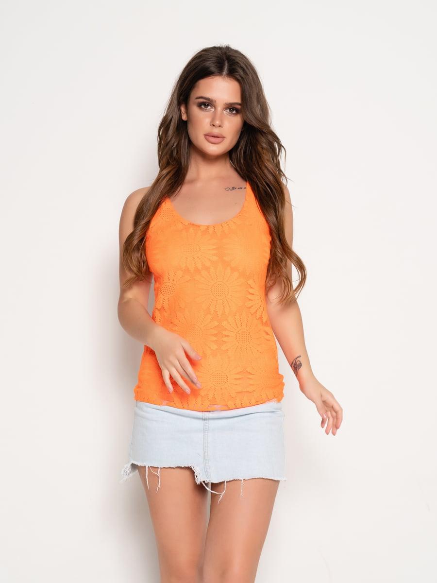Топ оранжевый | 5087610