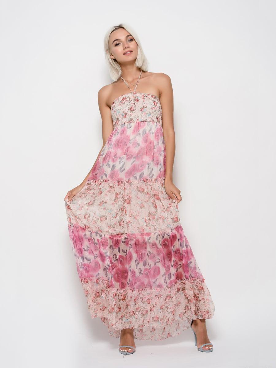 Платье в цветочный принт | 5087618