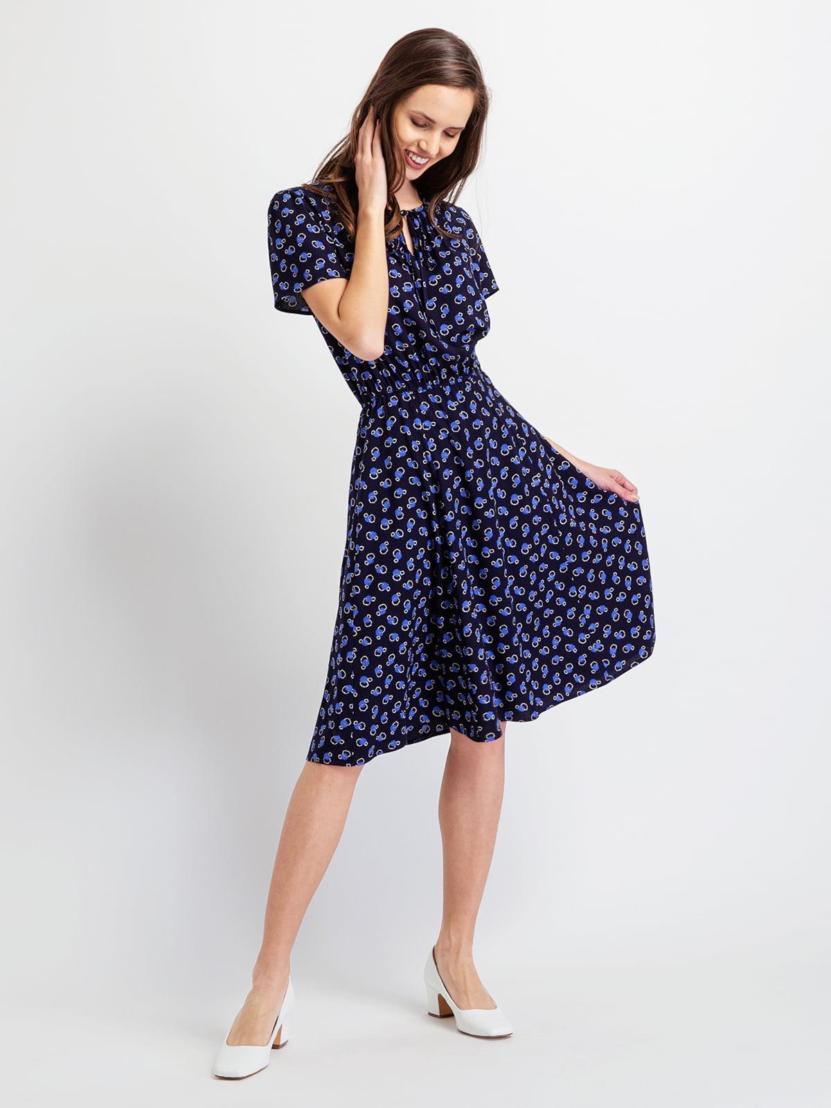 Сукня темно-синя в принт   5096512