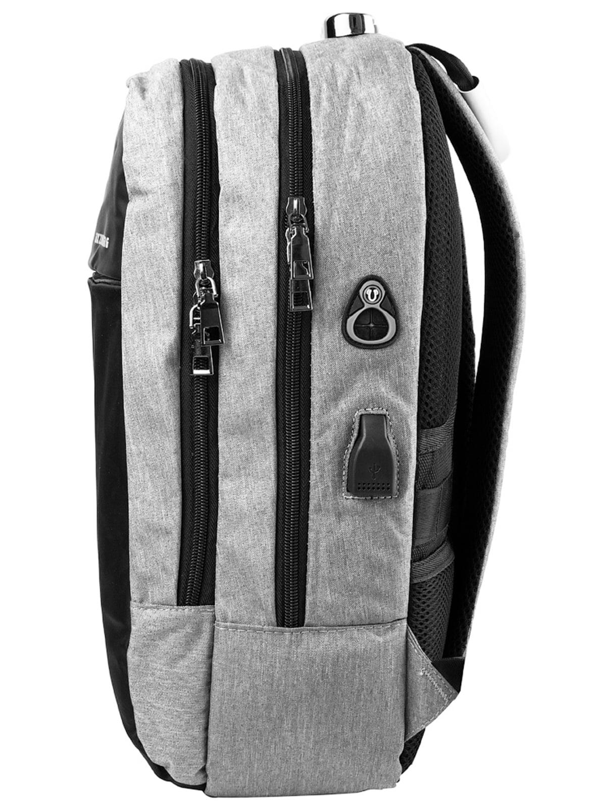 Рюкзак серо-черный   5087430   фото 3
