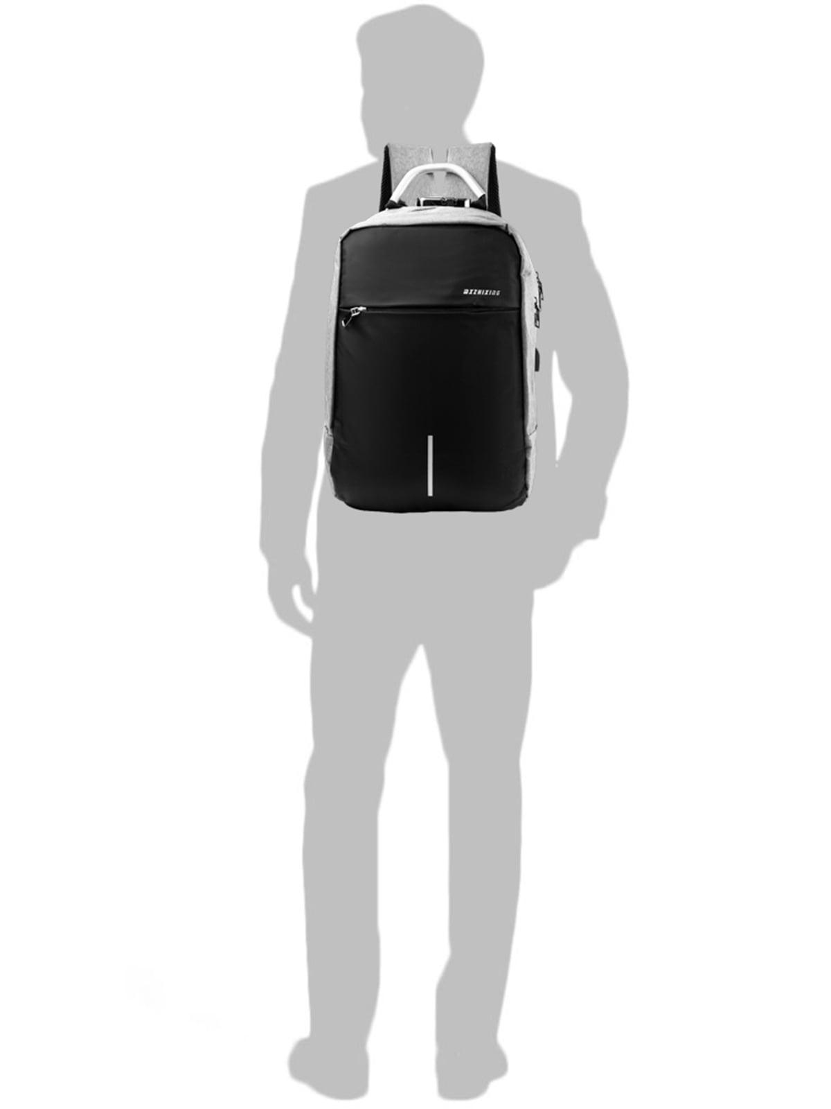 Рюкзак серо-черный   5087430   фото 6