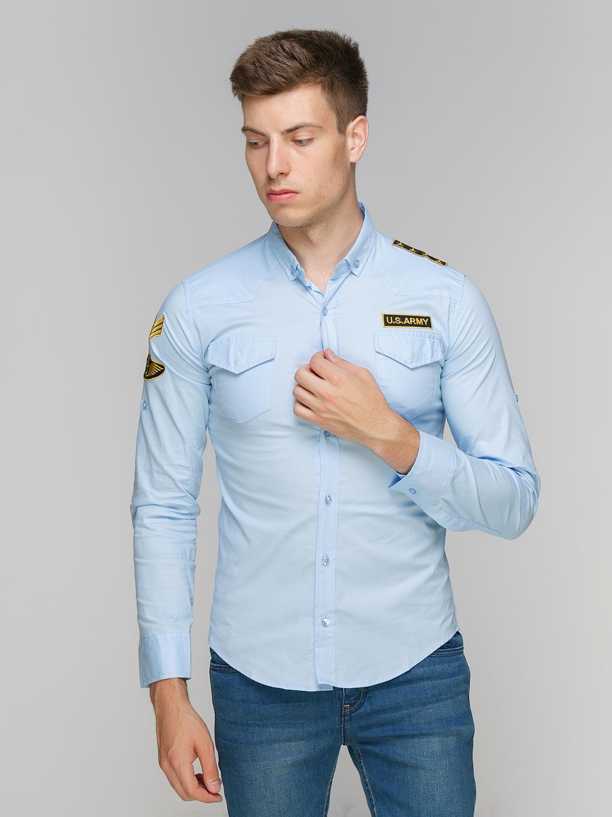 Сорочка блакитна | 5086477