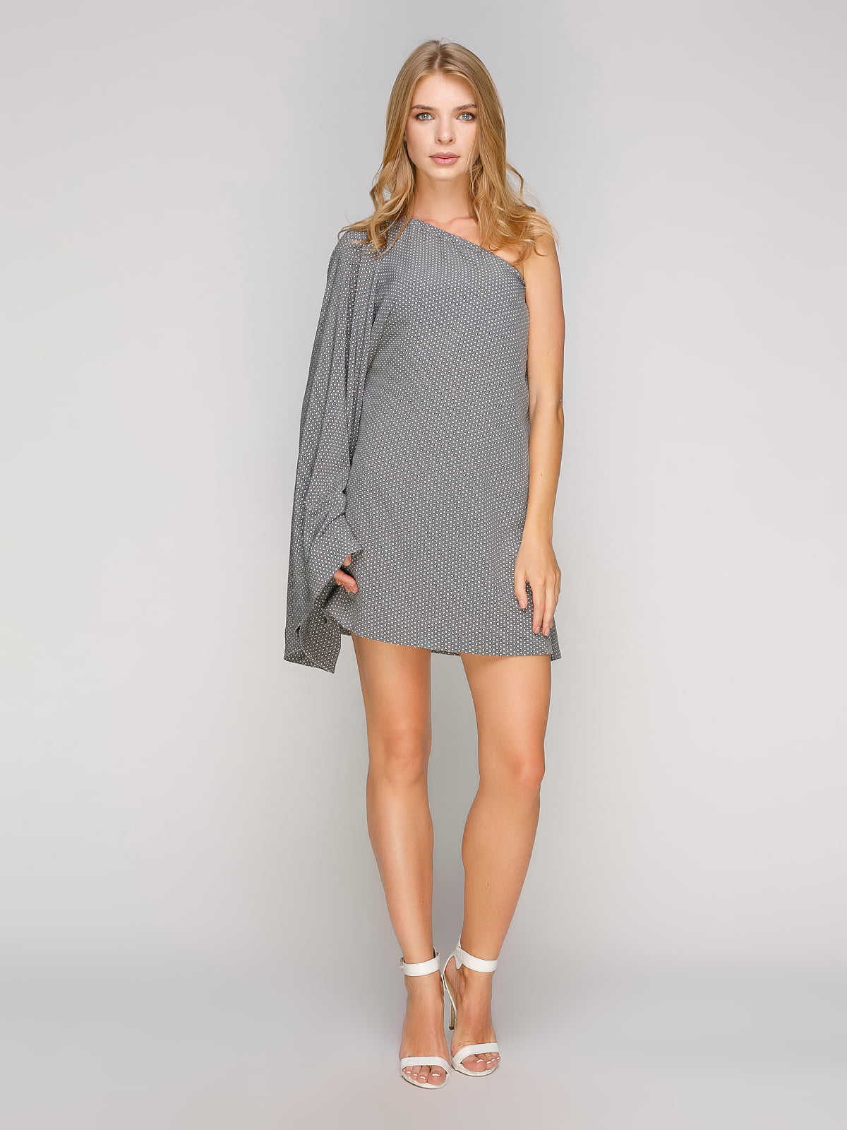 Сукня сіра в принт | 5102090