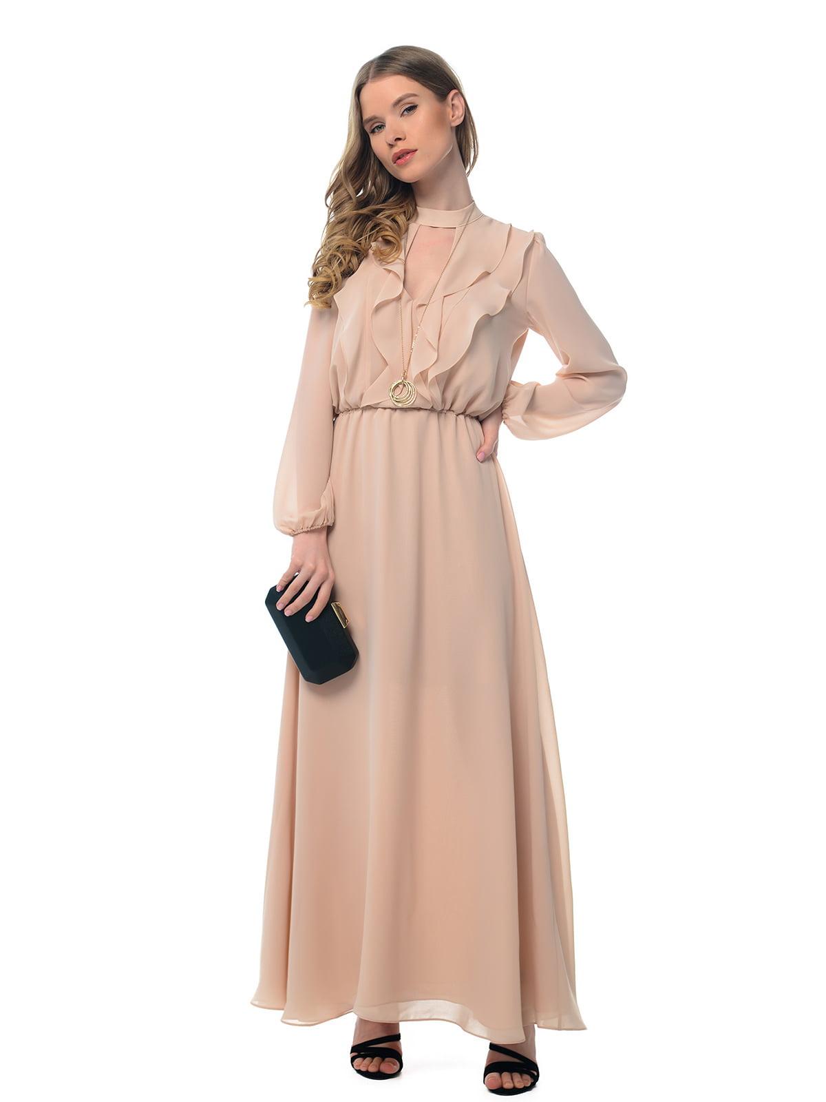 Платье бежевое | 5103198