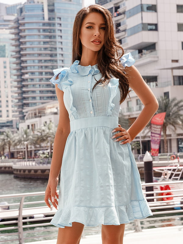 Платье голубое   5103475