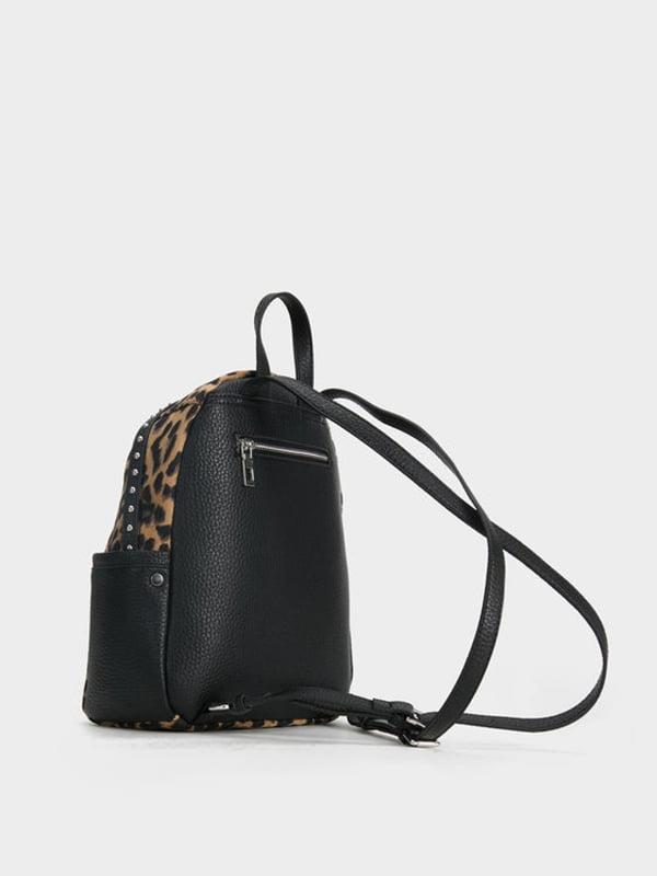 Рюкзак чорний з анімалістичним принтом | 5092901